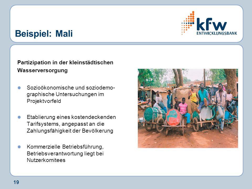 Beispiel: Mali Partizipation in der kleinstädtischen Wasserversorgung