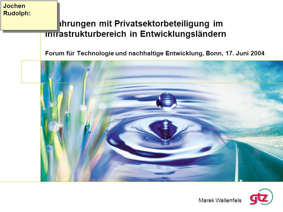 Forum für Technologie und nachhaltige Entwicklung, Bonn, 17. Juni 2004