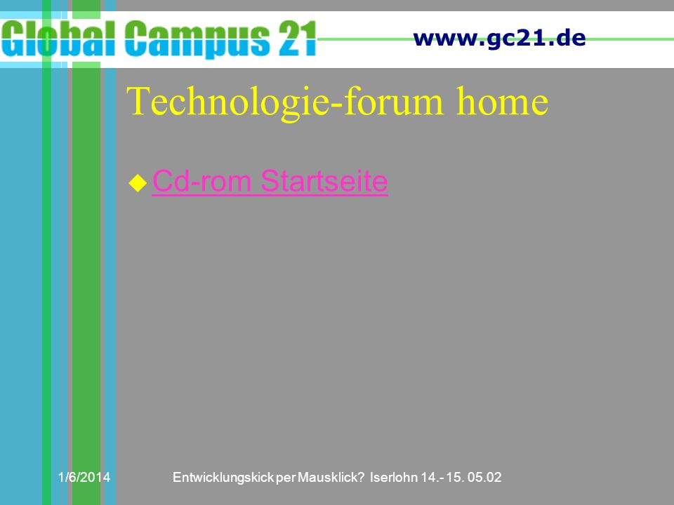 Technologie-forum home