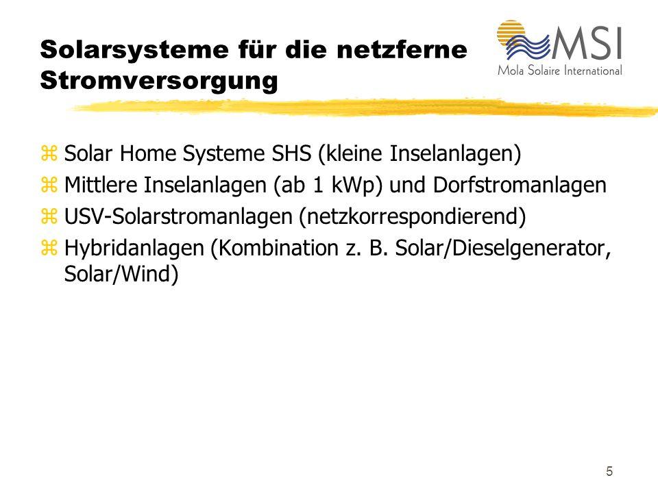 Solarsysteme für die netzferne Stromversorgung