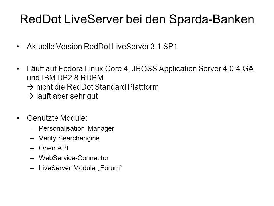 RedDot LiveServer bei den Sparda-Banken