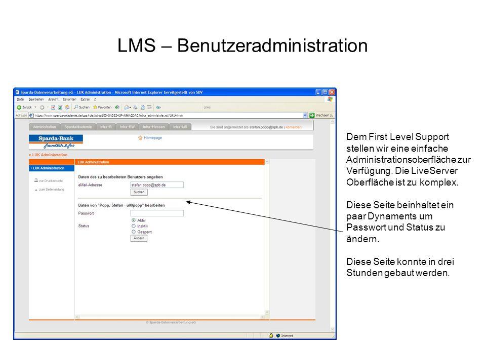 LMS – Benutzeradministration