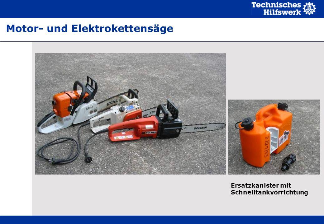 Motor- und Elektrokettensäge