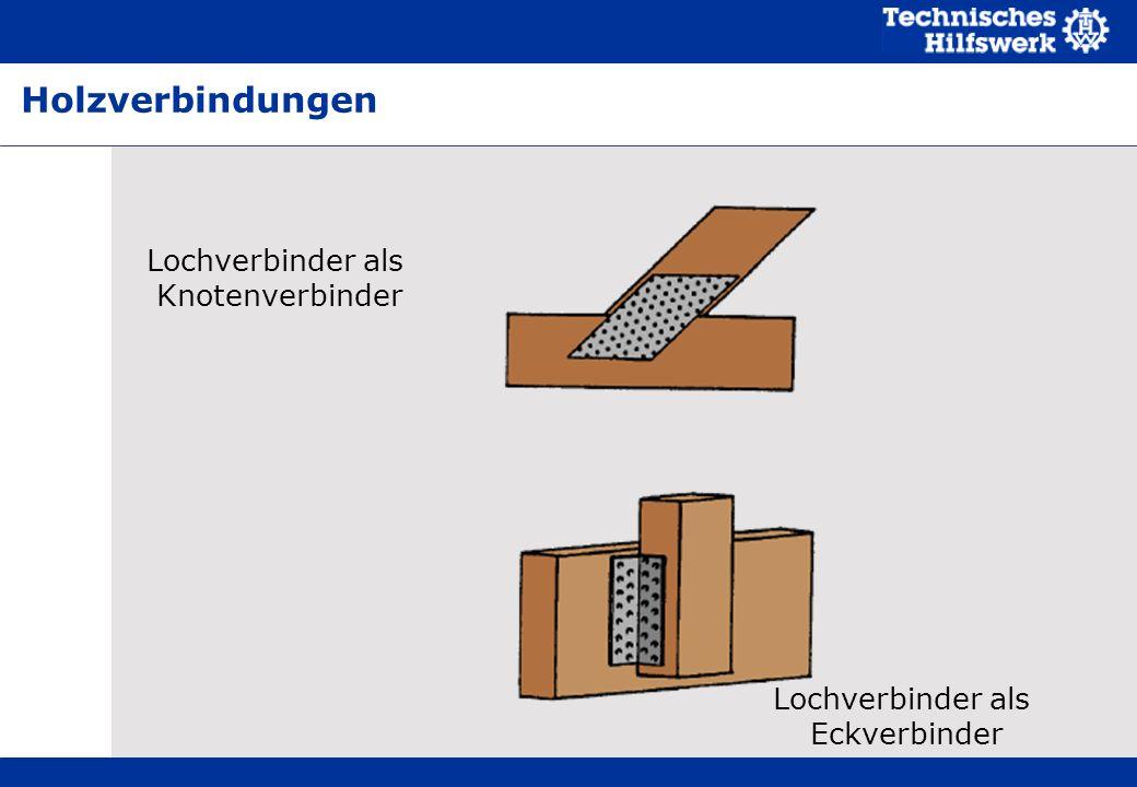 Holzverbindungen Lochverbinder als Knotenverbinder Lochverbinder als
