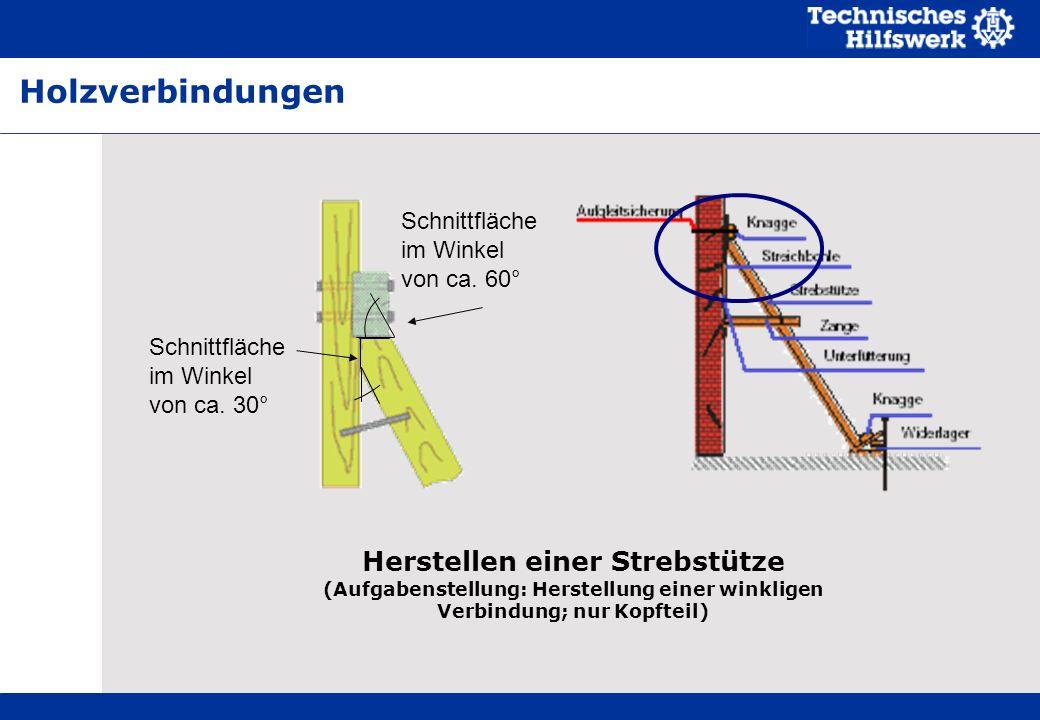 Holzverbindungen Schnittfläche im Winkel von ca. 60° Schnittfläche im Winkel von ca. 30° Script. Zu lose gefahrenen Sägeketten.