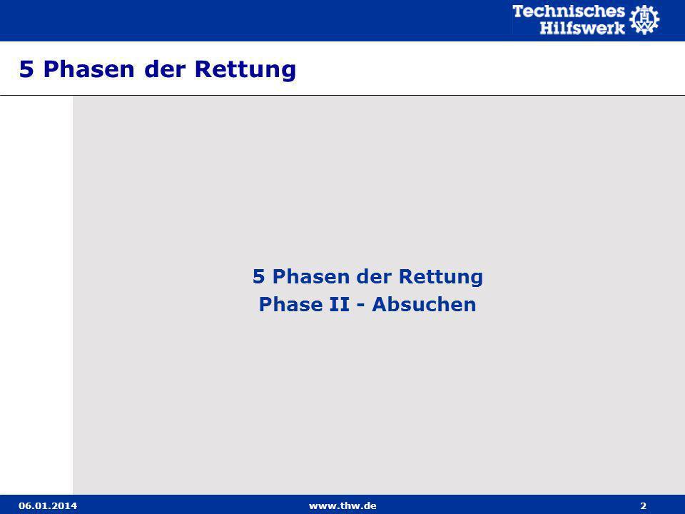 5 Phasen der Rettung 5 Phasen der Rettung Phase II - Absuchen