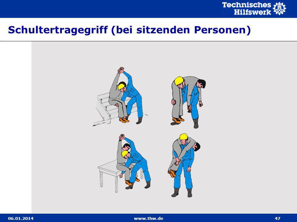 Schultertragegriff (bei sitzenden Personen)