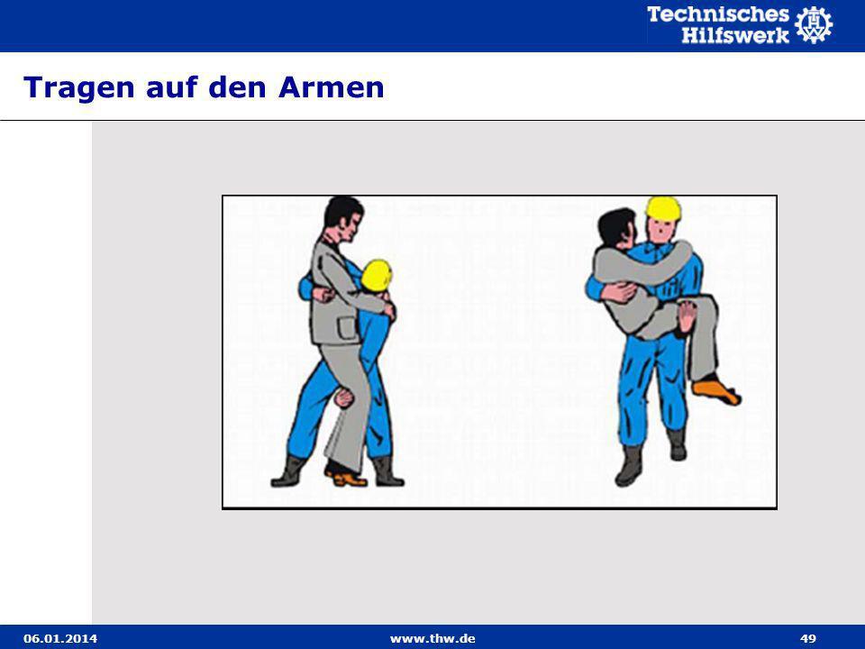 Tragen auf den Armen 27.03.2017 www.thw.de