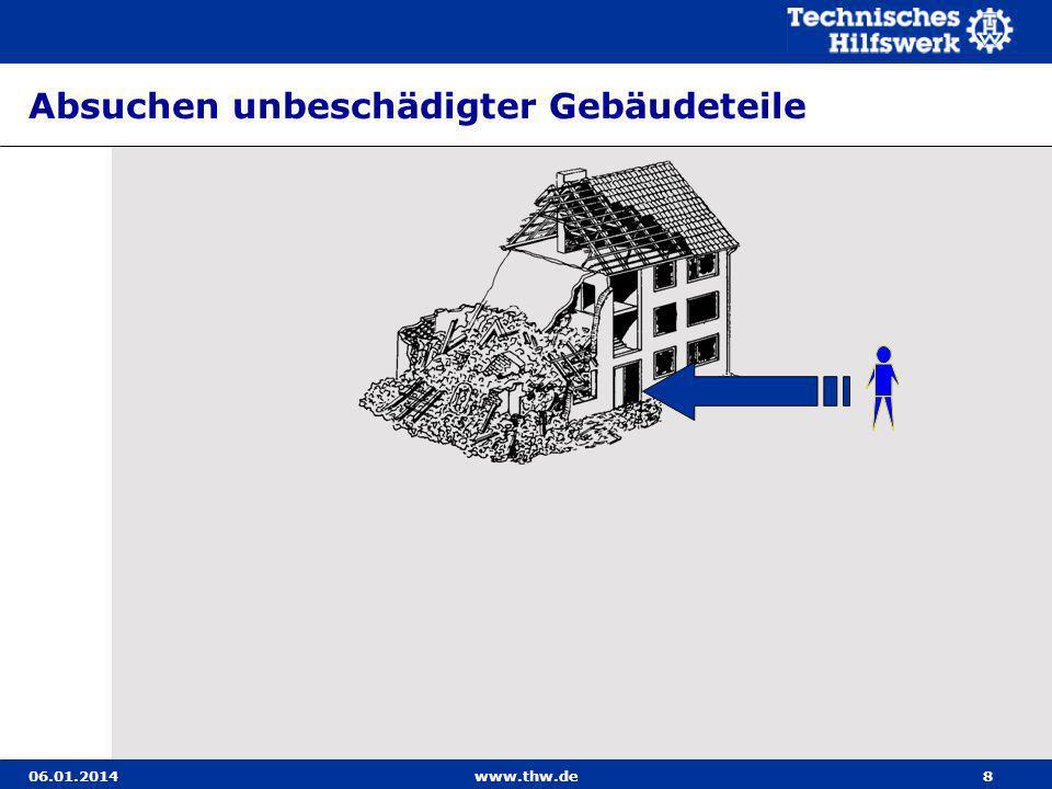 Absuchen unbeschädigter Gebäudeteile