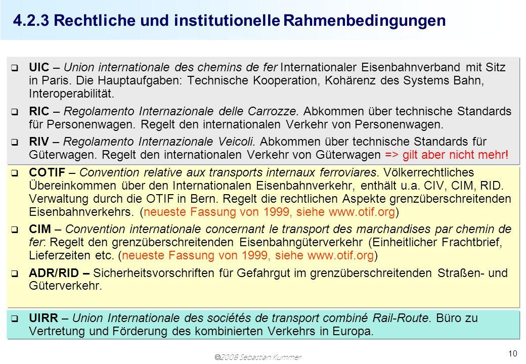 4.2.3 Rechtliche und institutionelle Rahmenbedingungen