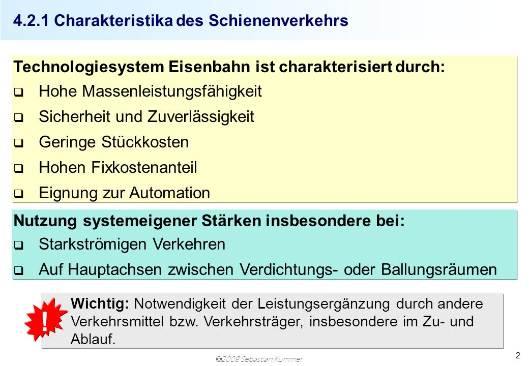 4.2.1 Charakteristika des Schienenverkehrs