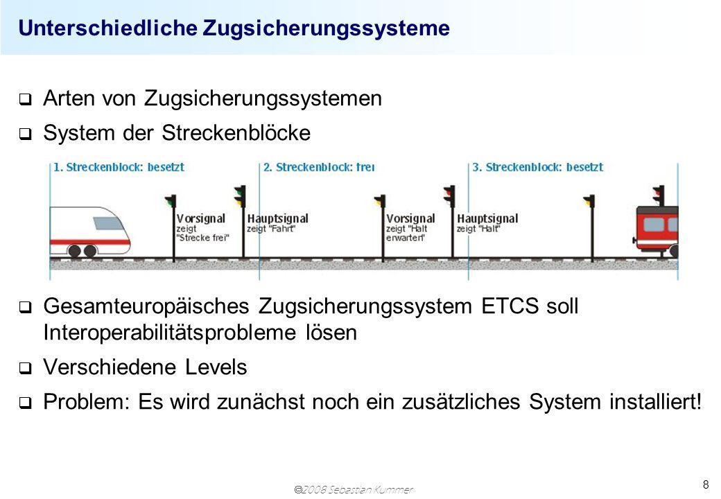 Unterschiedliche Zugsicherungssysteme
