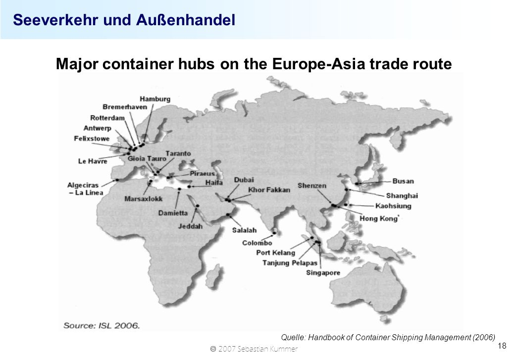 Seeverkehr und Außenhandel