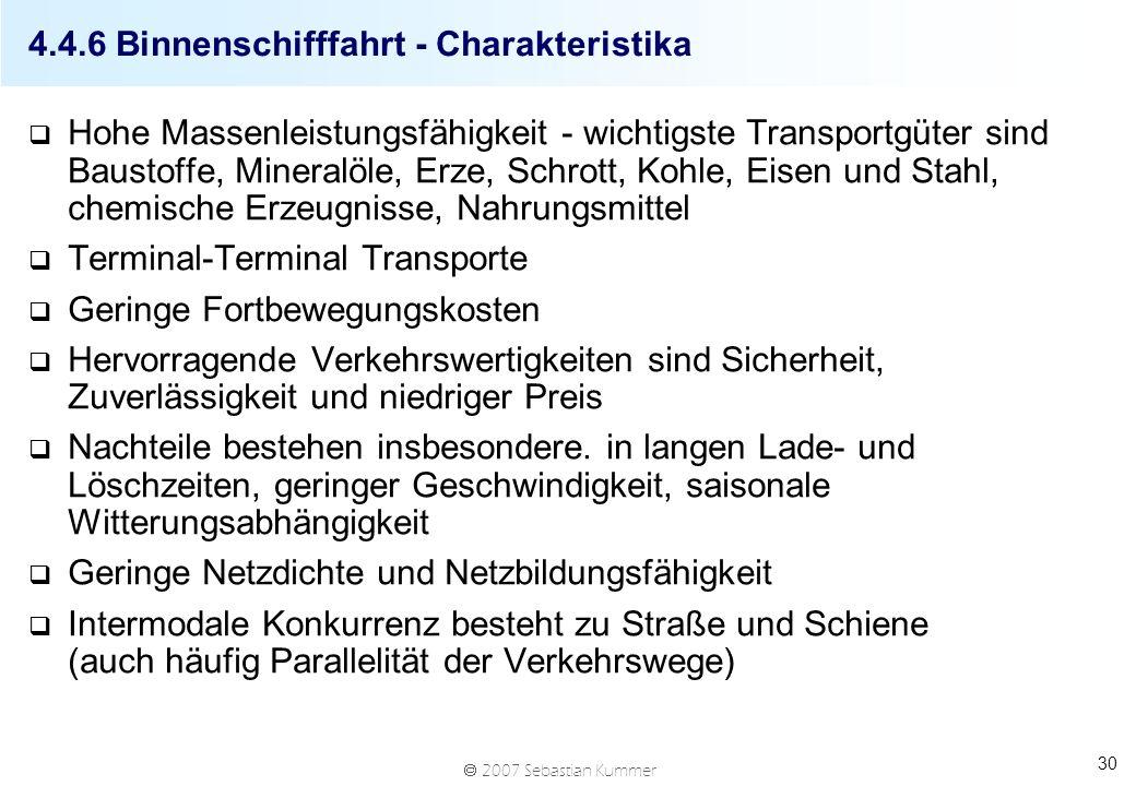4.4.6 Binnenschifffahrt - Charakteristika