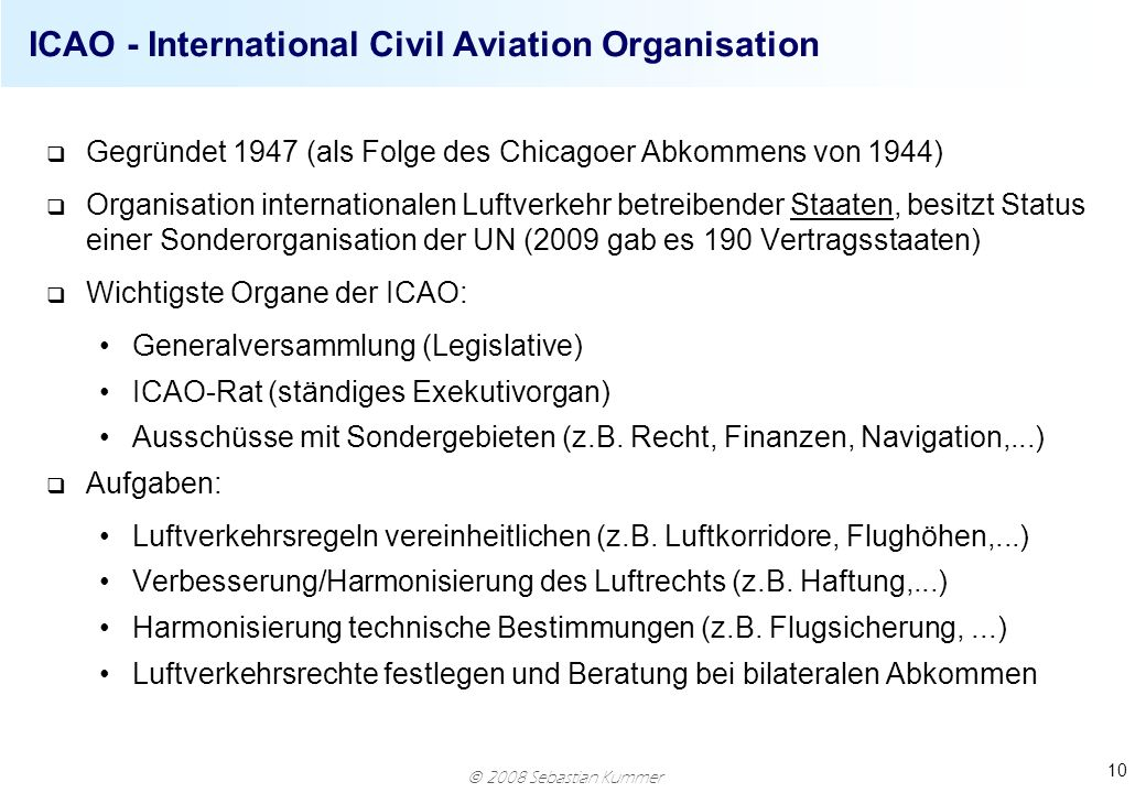 ICAO - International Civil Aviation Organisation