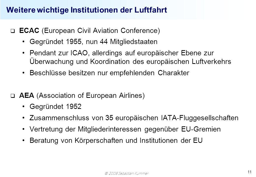Weitere wichtige Institutionen der Luftfahrt