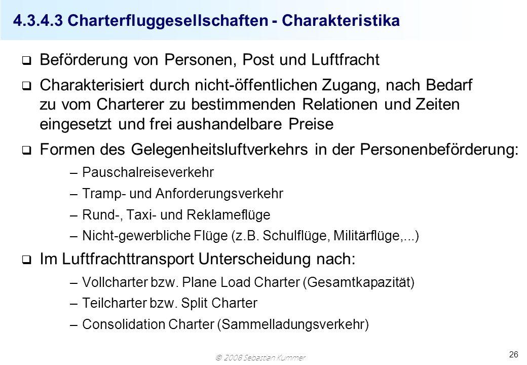 4.3.4.3 Charterfluggesellschaften - Charakteristika