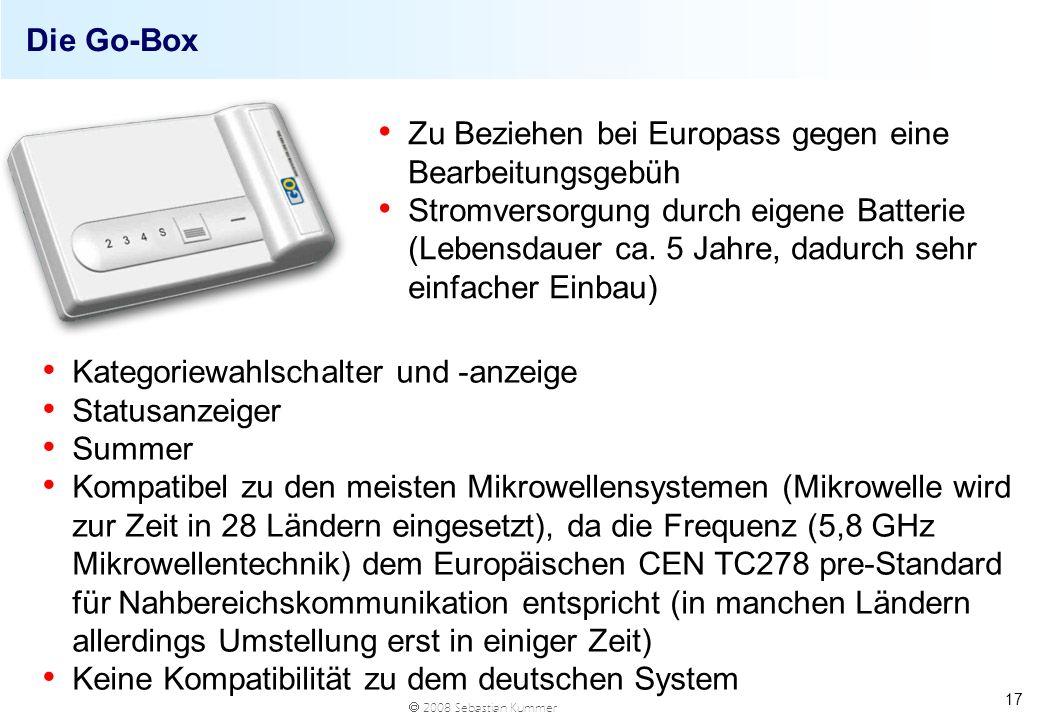 Die Go-BoxZu Beziehen bei Europass gegen eine Bearbeitungsgebüh.
