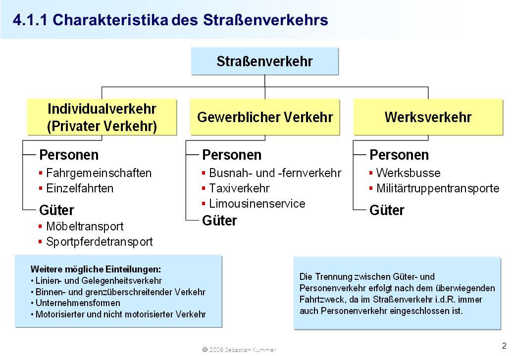 4.1.1 Charakteristika des Straßenverkehrs