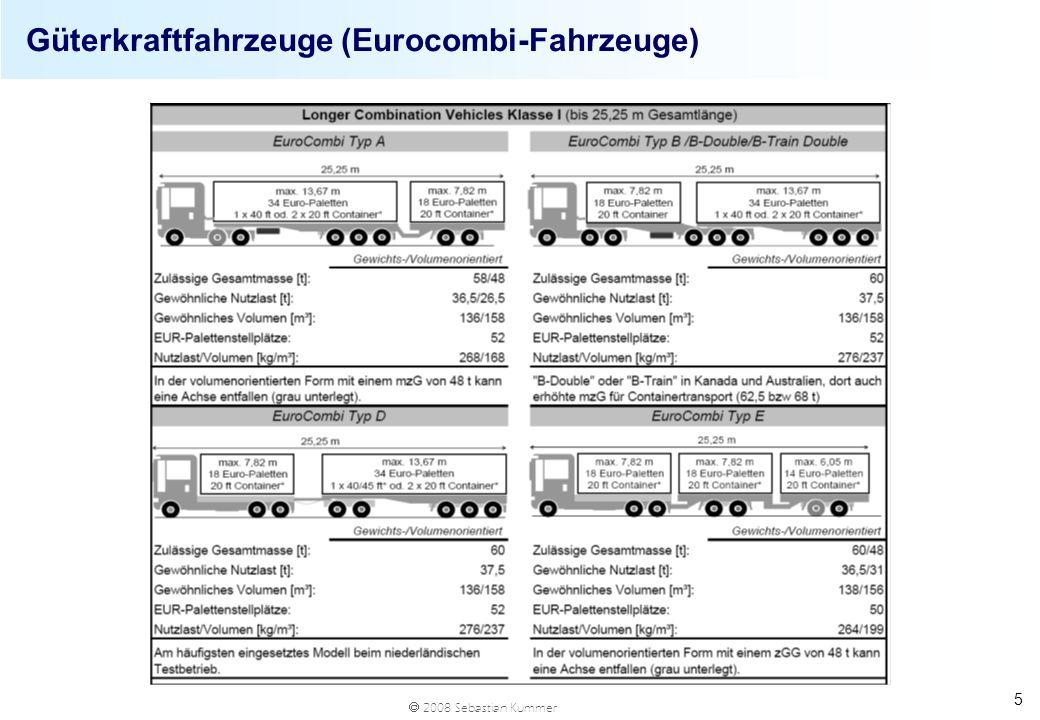 Güterkraftfahrzeuge (Eurocombi-Fahrzeuge)