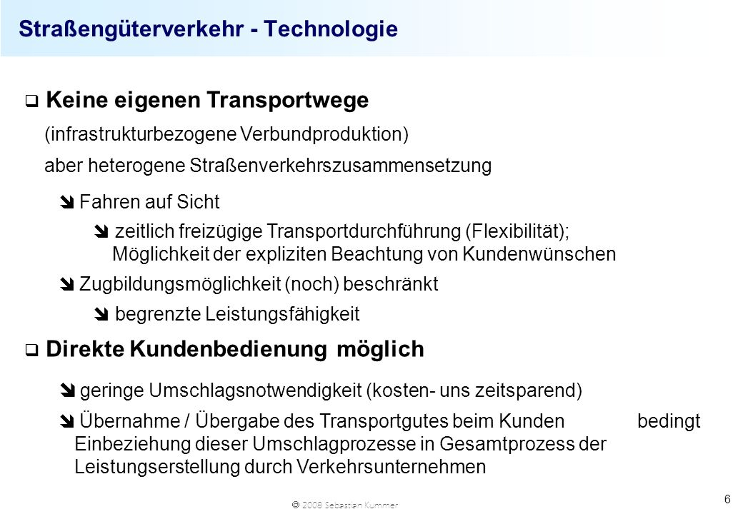 Straßengüterverkehr - Technologie