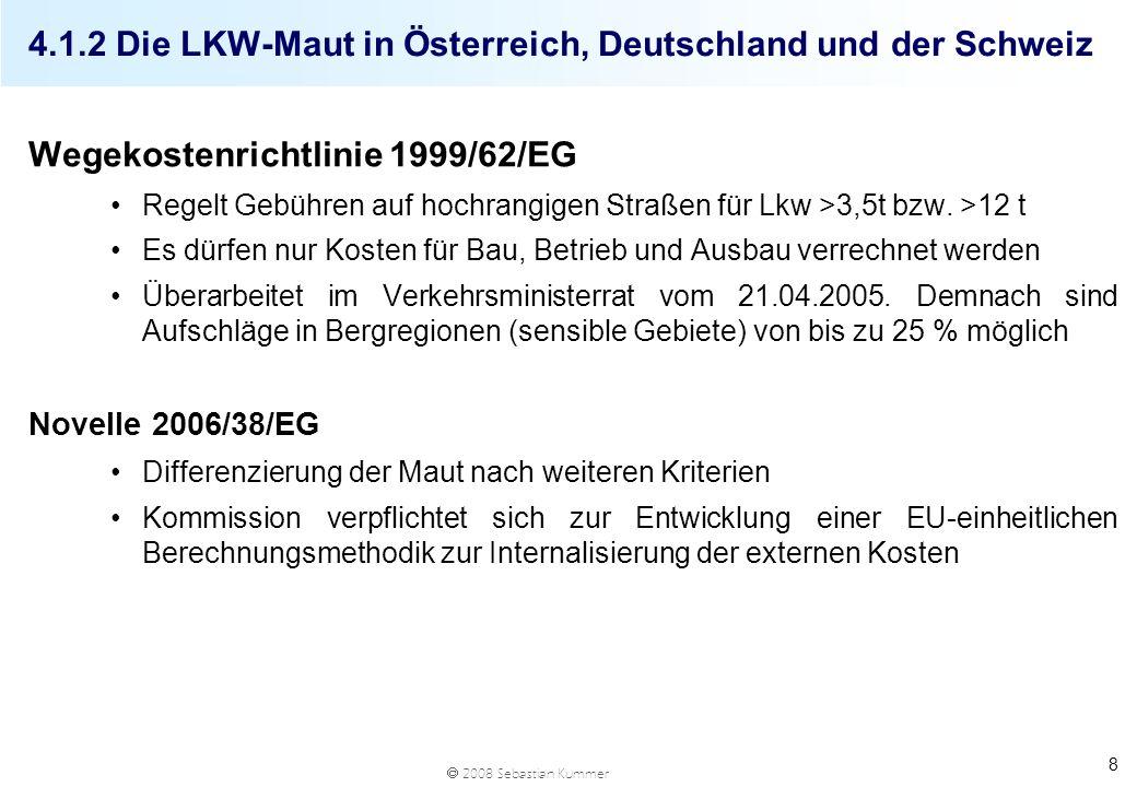 4.1.2 Die LKW-Maut in Österreich, Deutschland und der Schweiz