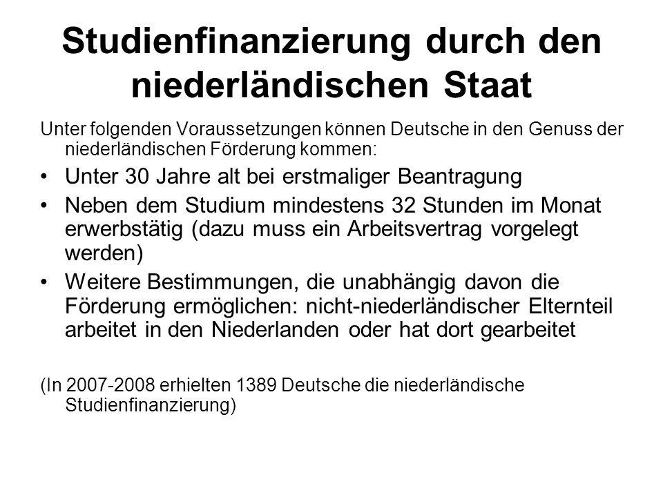 Studienfinanzierung durch den niederländischen Staat