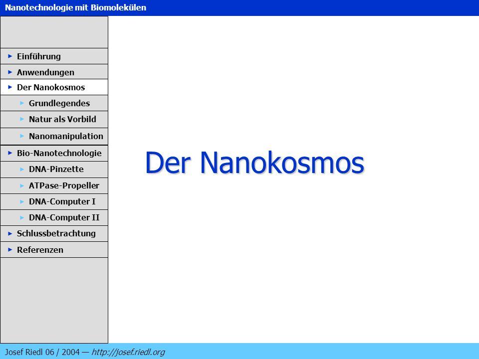 Der Nanokosmos Einführung Anwendungen Der Nanokosmos Grundlegendes