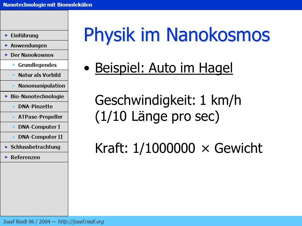 Physik im Nanokosmos Einführung. Anwendungen. Der Nanokosmos.