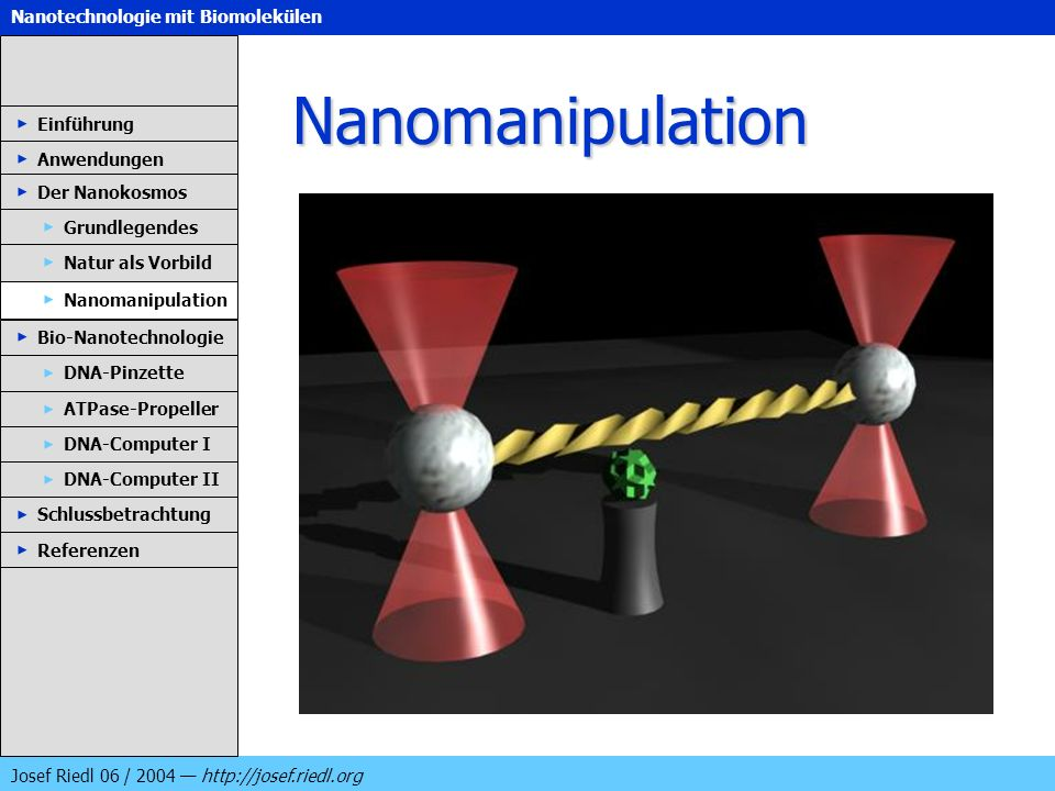 Nanomanipulation Einführung Anwendungen Der Nanokosmos Grundlegendes