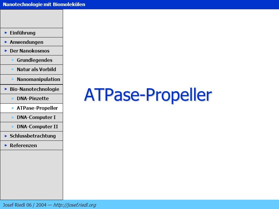 ATPase-Propeller Einführung Anwendungen Der Nanokosmos Grundlegendes