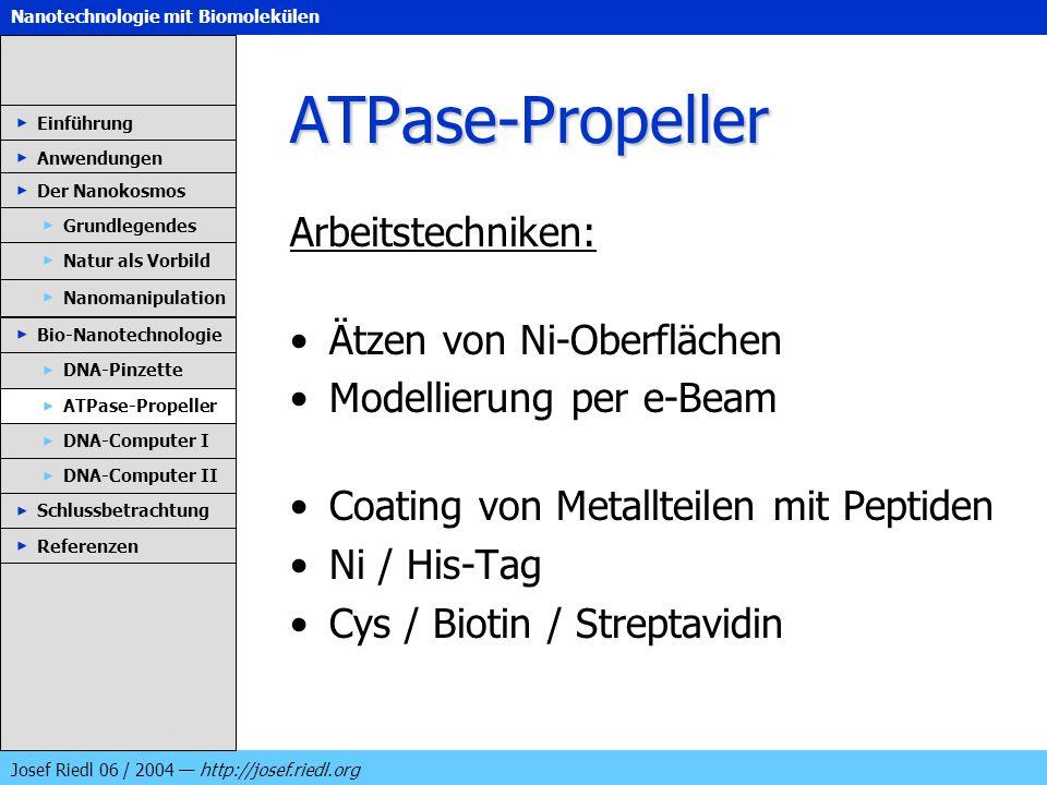 ATPase-Propeller Arbeitstechniken: Ätzen von Ni-Oberflächen