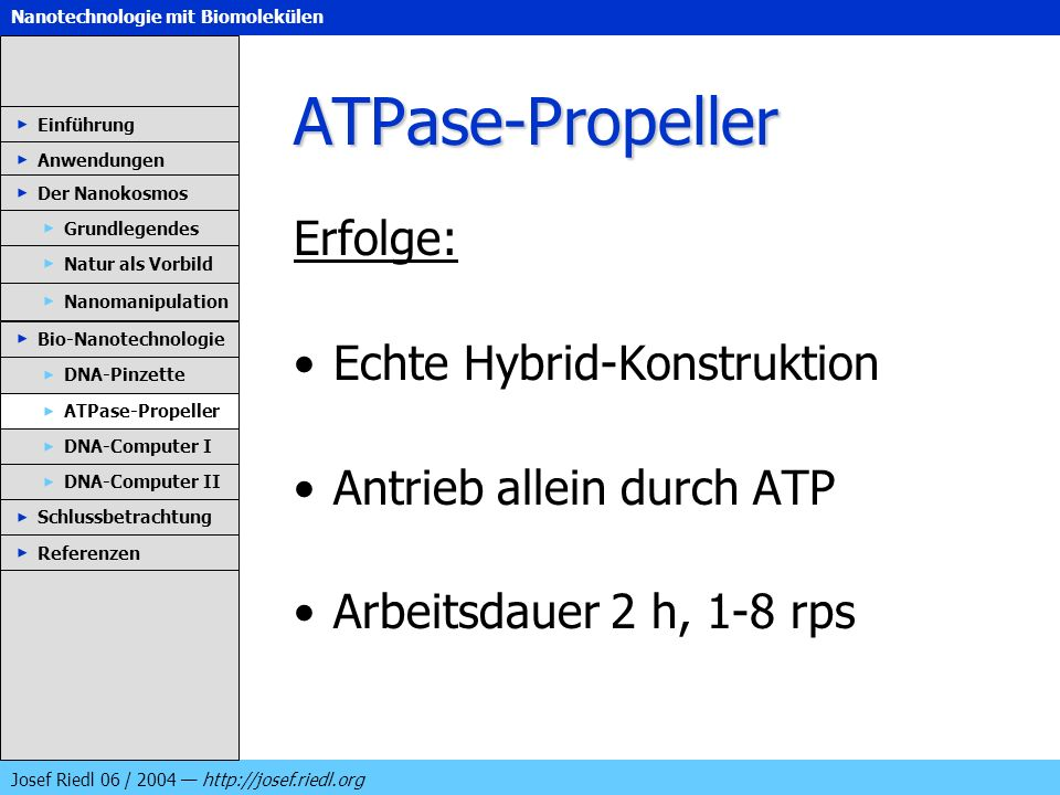 ATPase-Propeller Erfolge: Echte Hybrid-Konstruktion