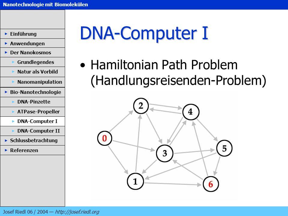 DNA-Computer I Hamiltonian Path Problem (Handlungsreisenden-Problem)