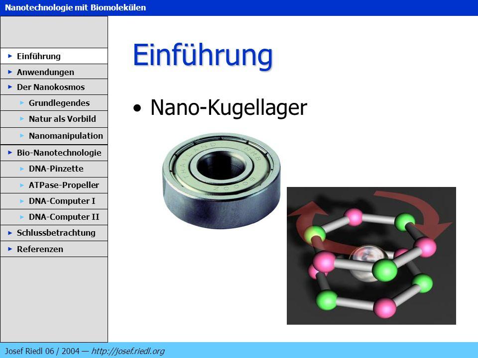 Einführung Nano-Kugellager Einführung Anwendungen Der Nanokosmos
