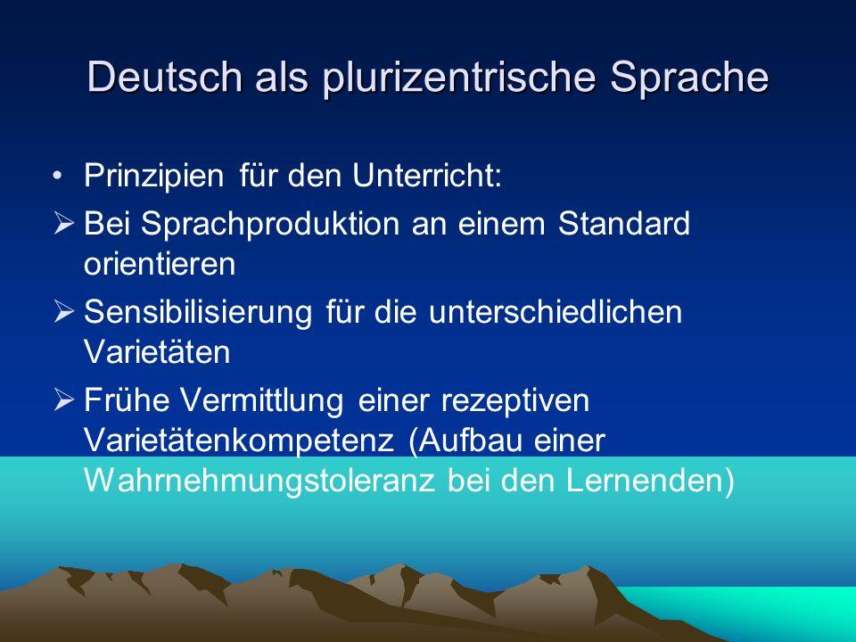 Deutsch als plurizentrische Sprache