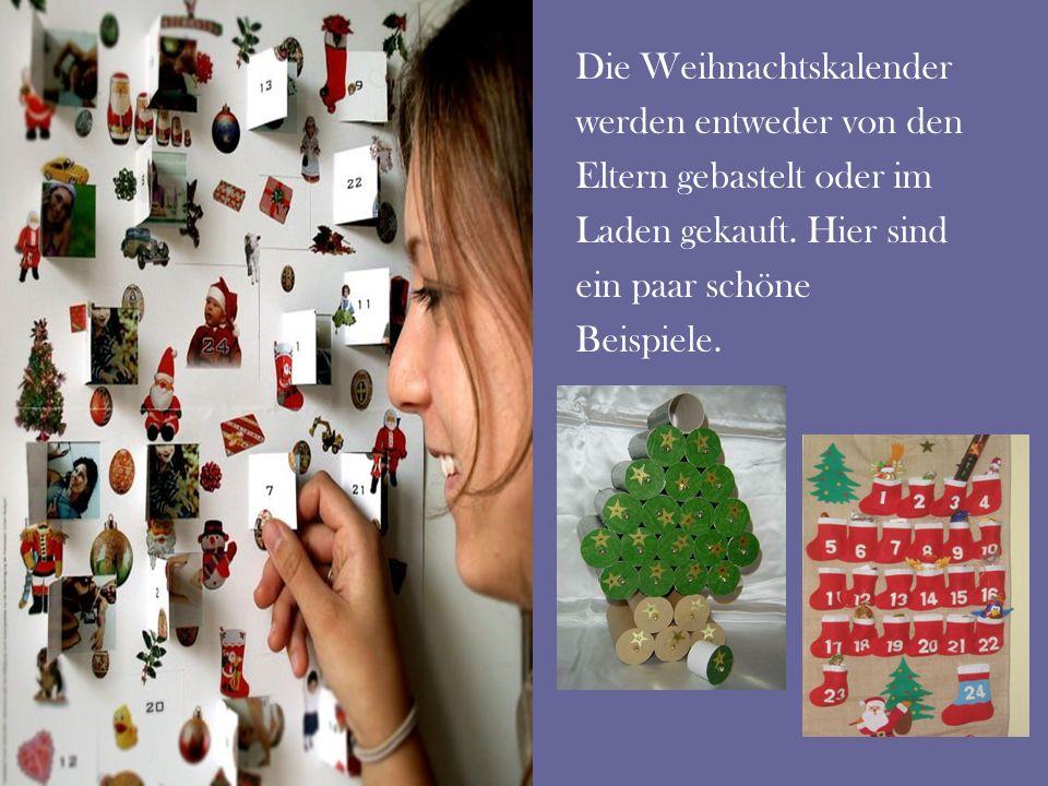 Die Weihnachtskalender