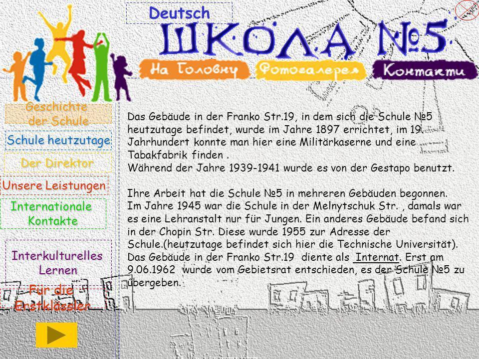 Deutsch Für die Erstklässler Geschichte der Schule Schule heutzutage