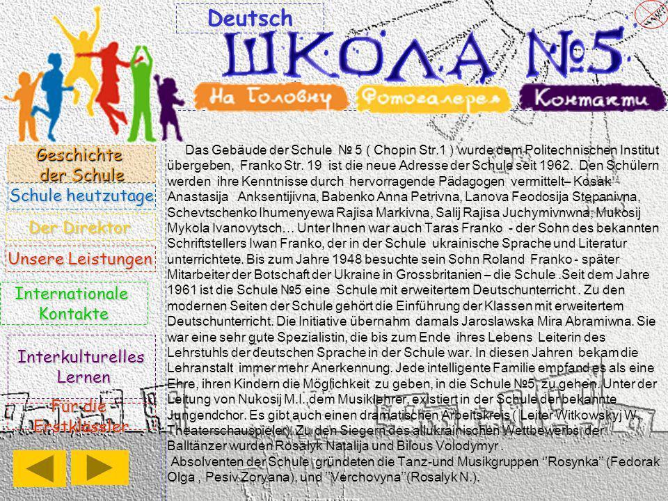 Deutsch Geschichte der Schule Schule heutzutage Der Direktor