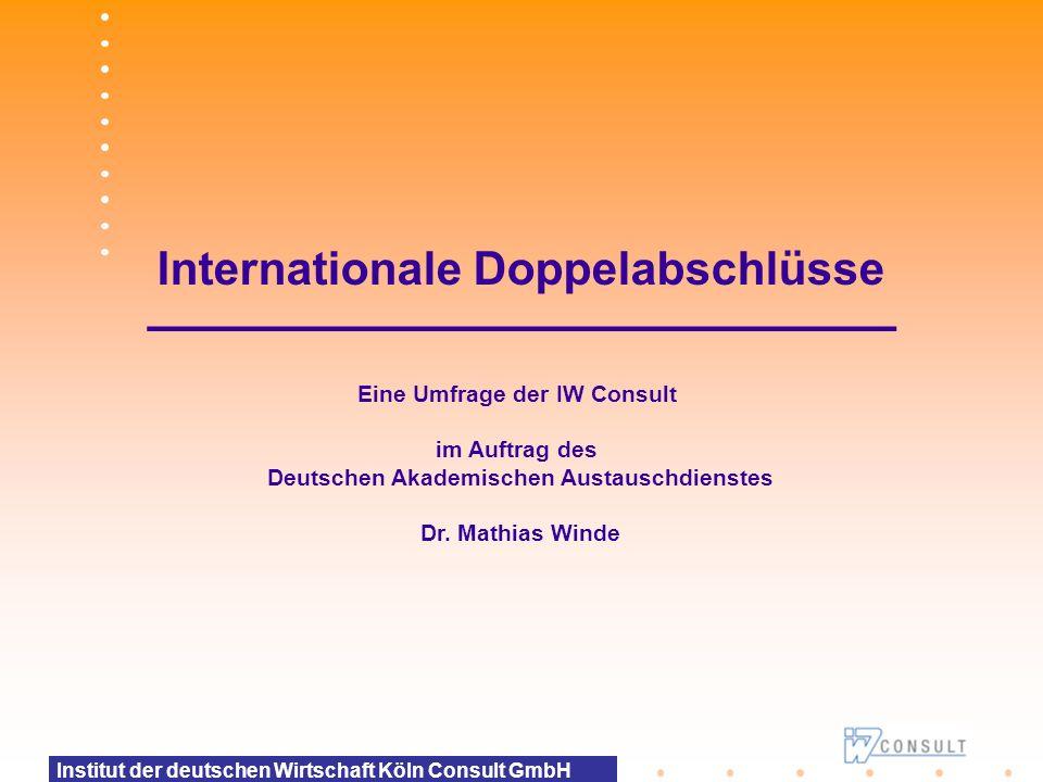 Internationale Doppelabschlüsse –––––––––––––––––––––––––––––