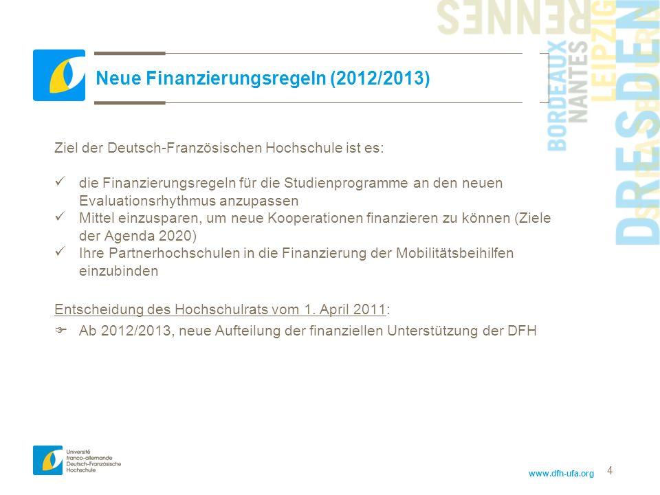 Neue Finanzierungsregeln (2012/2013)