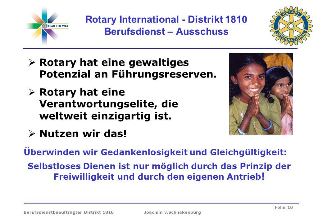 Rotary International - Distrikt 1810 Berufsdienst – Ausschuss