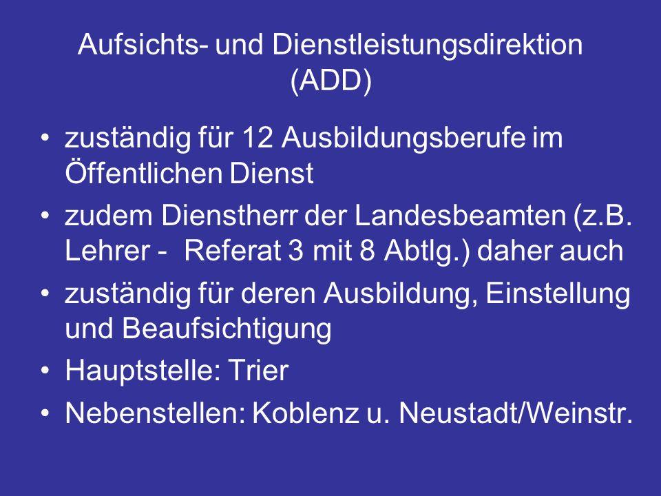 Aufsichts- und Dienstleistungsdirektion (ADD)