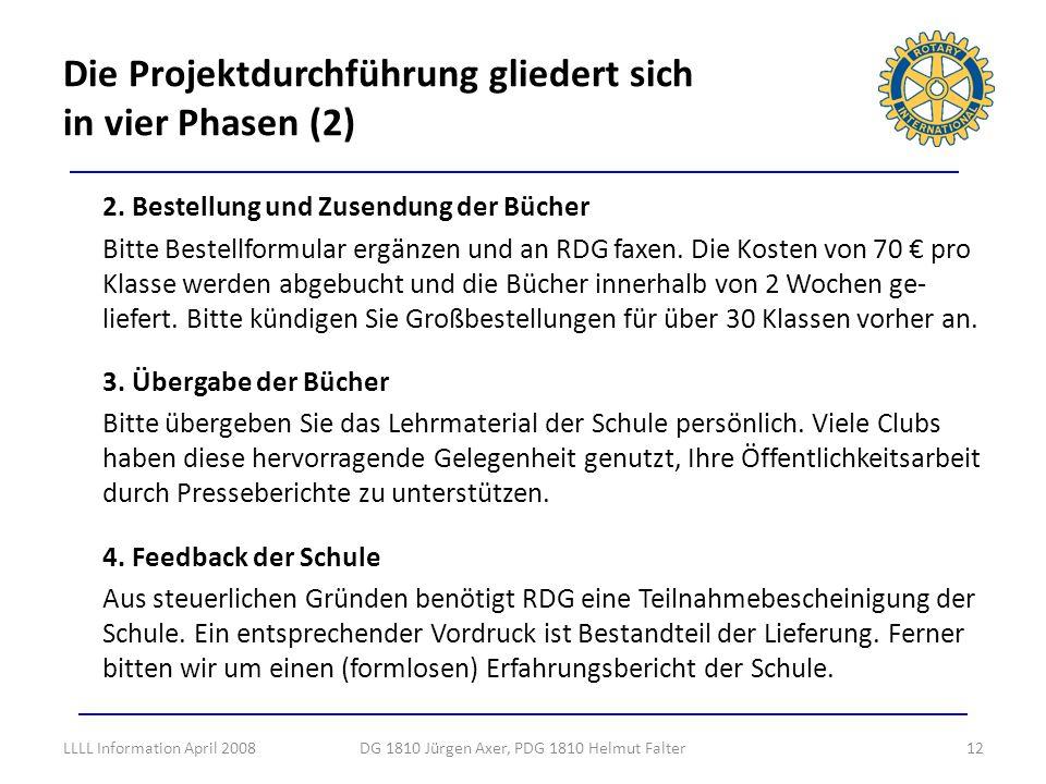 Die Projektdurchführung gliedert sich in vier Phasen (2)