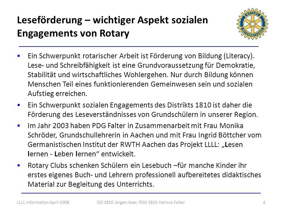 Leseförderung – wichtiger Aspekt sozialen Engagements von Rotary