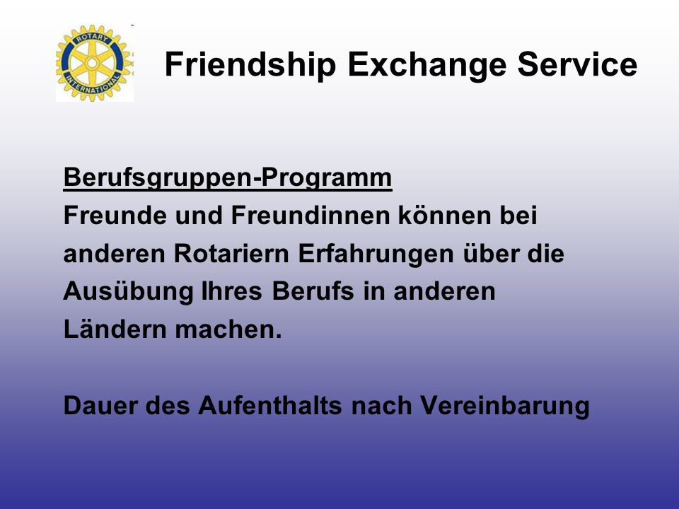Friendship Exchange Service