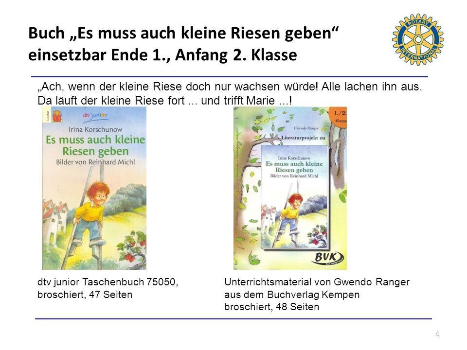 """Buch """"Es muss auch kleine Riesen geben einsetzbar Ende 1. , Anfang 2"""
