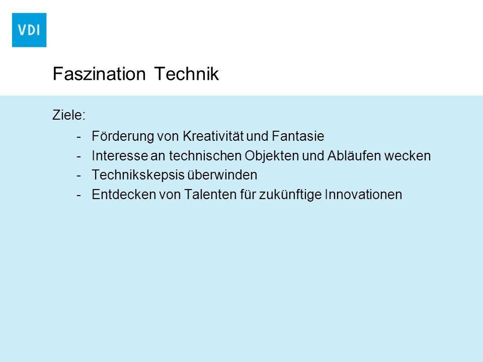 Faszination Technik Ziele: Förderung von Kreativität und Fantasie