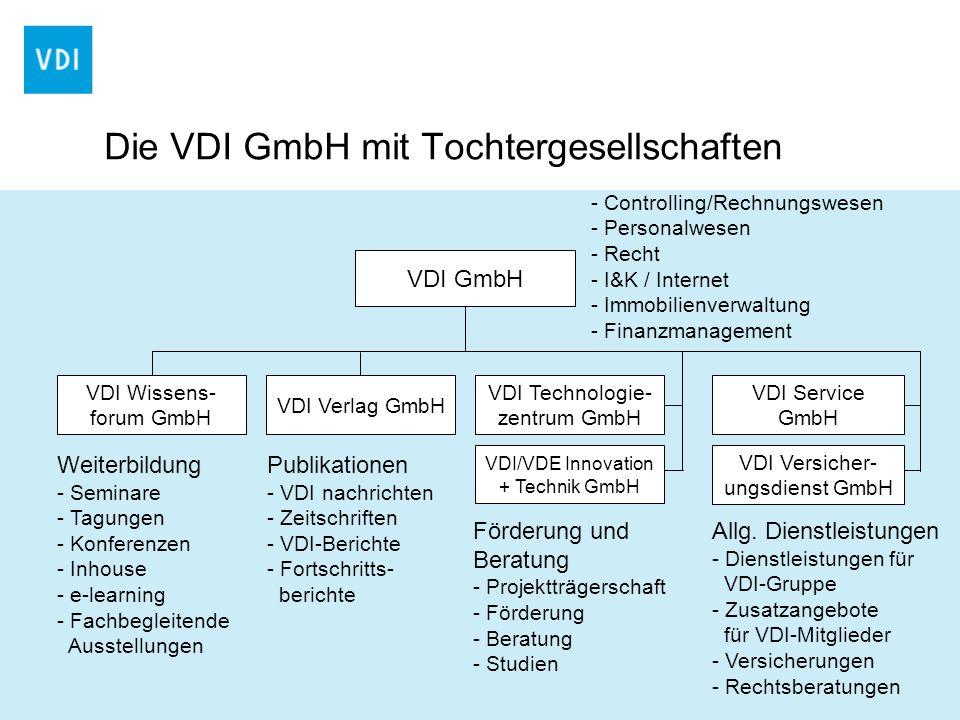 Die VDI GmbH mit Tochtergesellschaften
