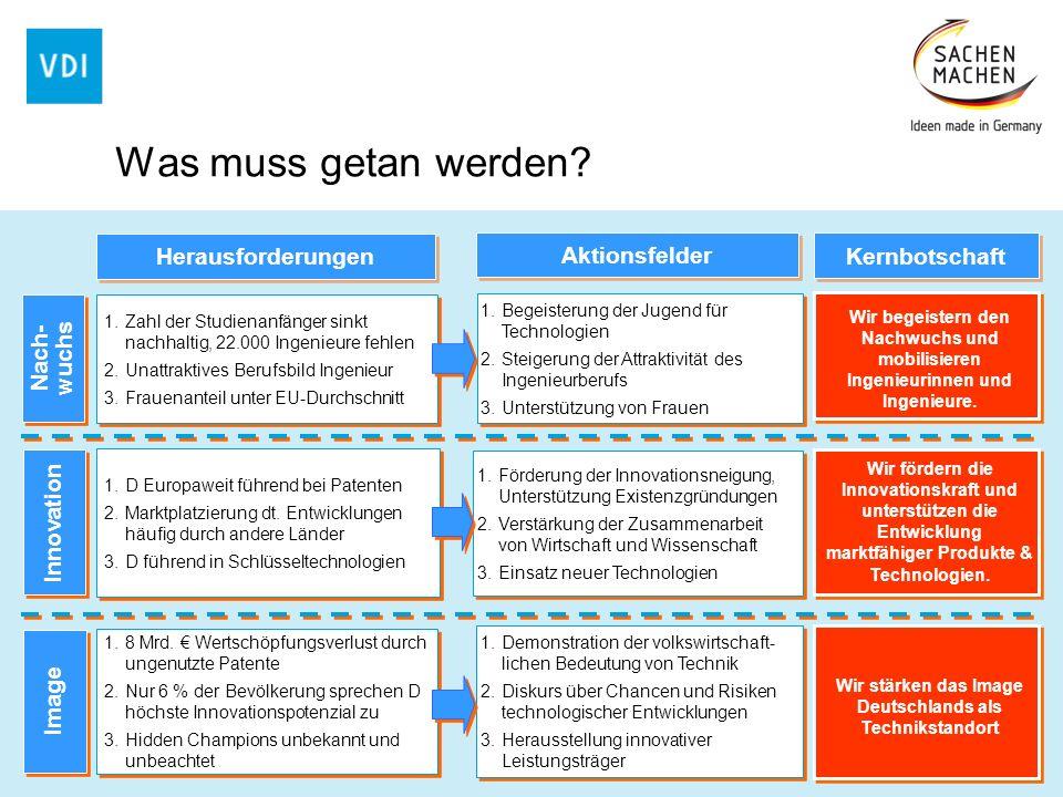 Wir stärken das Image Deutschlands als Technikstandort
